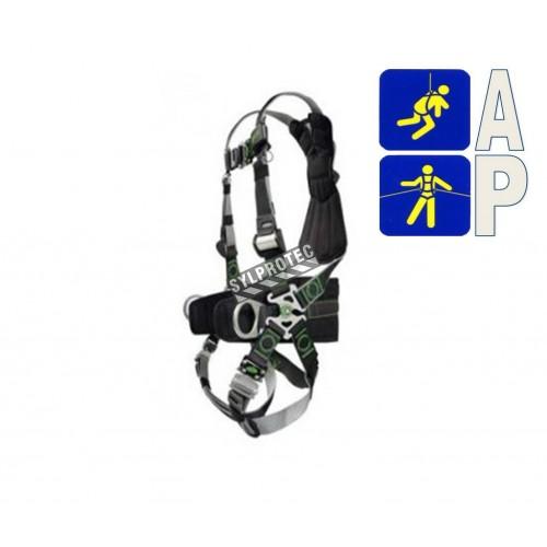 Harnais Revolution DualTech de Miller, L-XL, 3 anneaux, connexions rapides, ceinture lombaire. Groupes A & P.