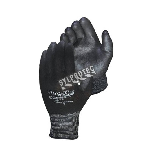 Superior Touch® 13-gauge nylon knit gloves with polyurethane coating. ASTM/ANSI puncture level 2.