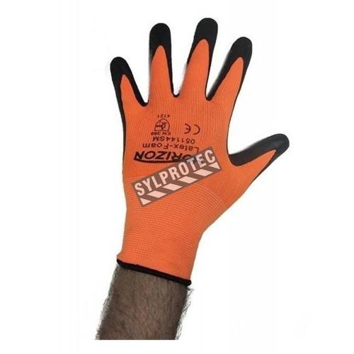 Gant Horizon en tricot de nylon en jauge 13 enduit de mousse de latex à la paume et aux doigts.