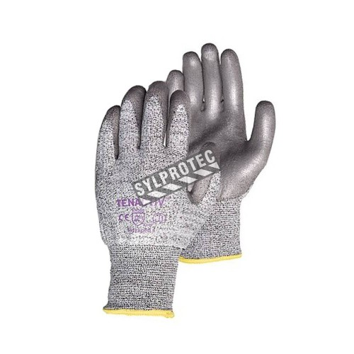 TenActiv™ cut-resistant composite knit glove with polyurethane coating. ASTM/ANSI cut-resistance level 2. Sold in pairs.