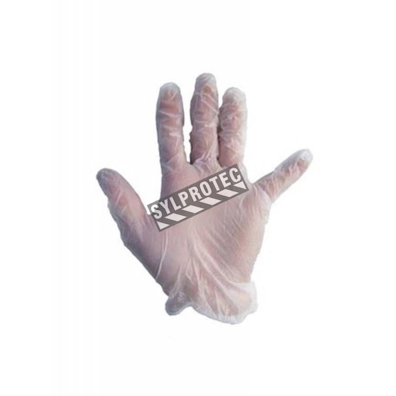 4 Mils Thick Ambidextrous Powder Free Clear Vinyl