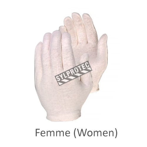 Interlock cotton inspector gloves for women