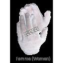 Gant d'inspecteur à taille unique en polycoton blanchi, modèle pour femme approuvé par l'ACIA. 12 paires/paquet.