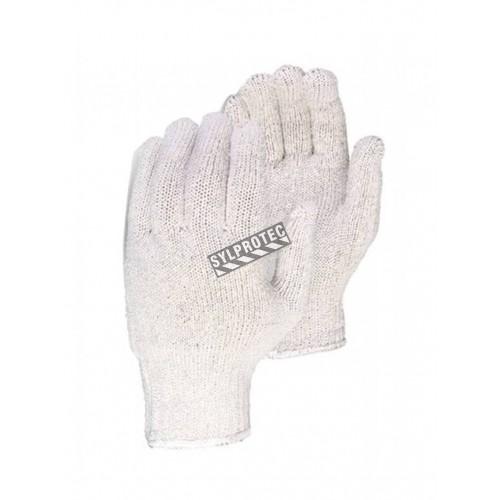 Gants en mélange de 65% polyester et 35% coton, larges, 12 paires/pqt.