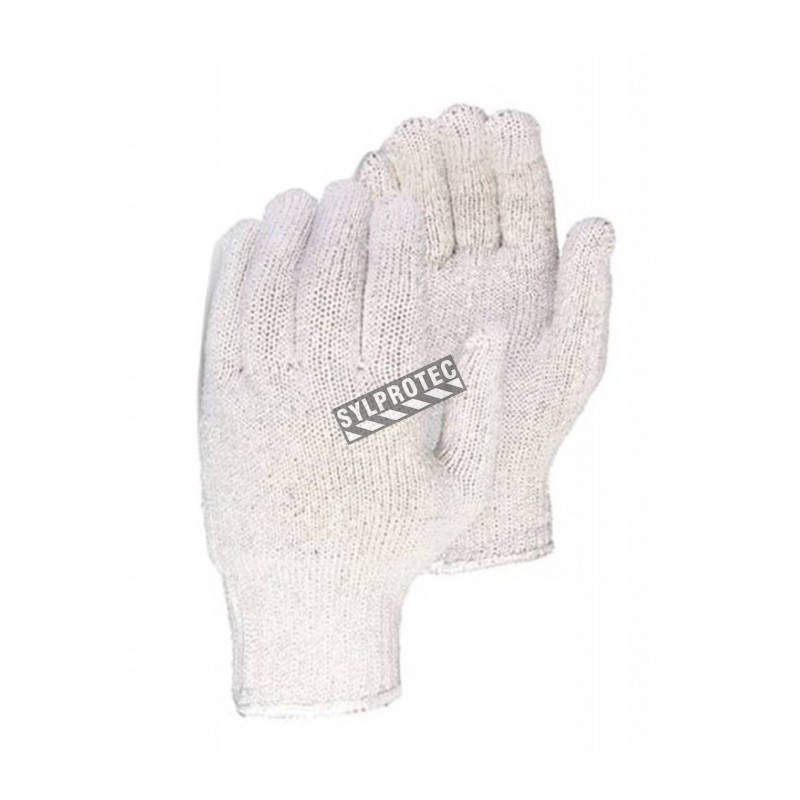 Gloves made of 65% polyester and 35% cotton blend, large, 12 pairs/pkg.