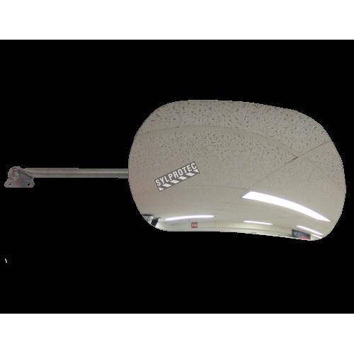 Miroir convexe rectangulaire sur bras ajustable, en acrylique, à champ de vue de 160 degrés.