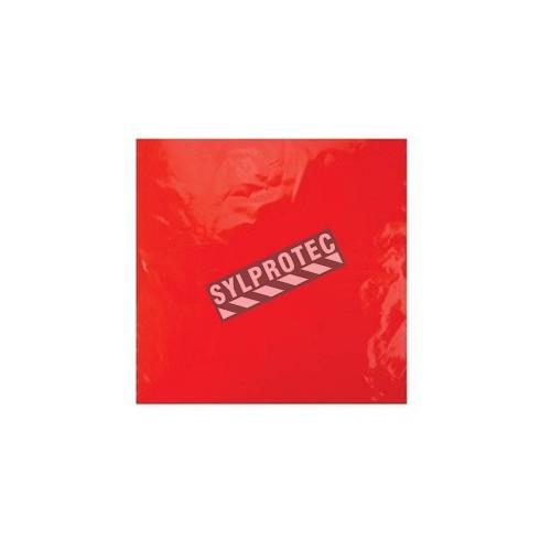 Drapeaux jetables rouges pour camions, 18 x 18 po, 100/paquet.
