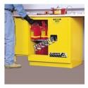 Armoire encastrable de 22 gallons US (83 L) pour liquides inflammables, certifiée FM, NFPA et OSHA.