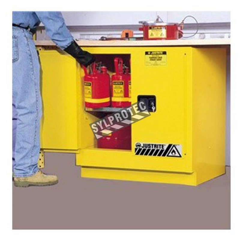 Under Counter Flammable Liquids Storage Cabinet, 22 US Gallons (83 L),