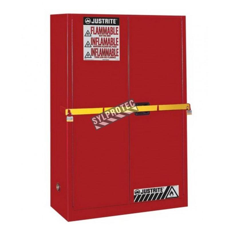 Armoire haute sécurité de 45 gallons (171 L) pour liquides combustibles, certifiée FM, NFPA et OSHA.