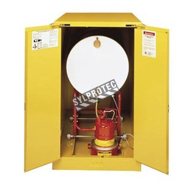 Armoire horizontale pour barils de 55 gallons US (208 L), certifiée NFPA, OSHA.