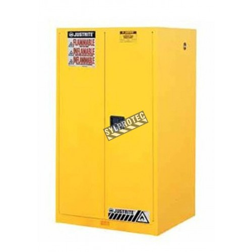 Armoire de 60 gallons US (227 L) pour liquides inflammables, certifiée FM, NFPA, OSHA.