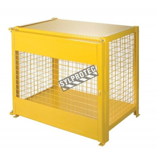 Storage cabinet for liquid propane cylinders. Capacity 6 cylinders of 35 lbs. CSA compliant.