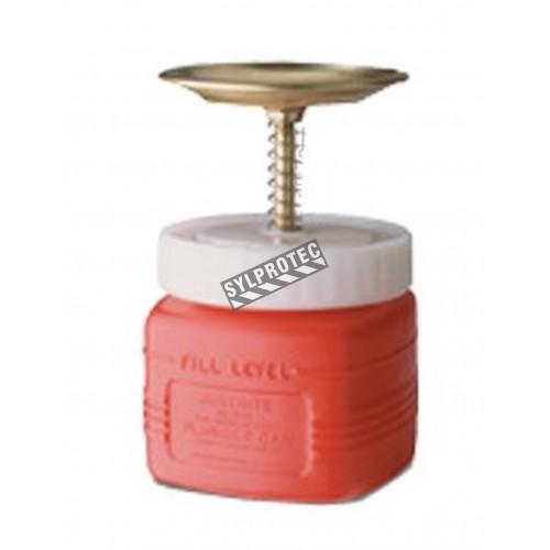 Polyethylene solvent dispenser, 1 quart, FM, UL, OHSA  approved.