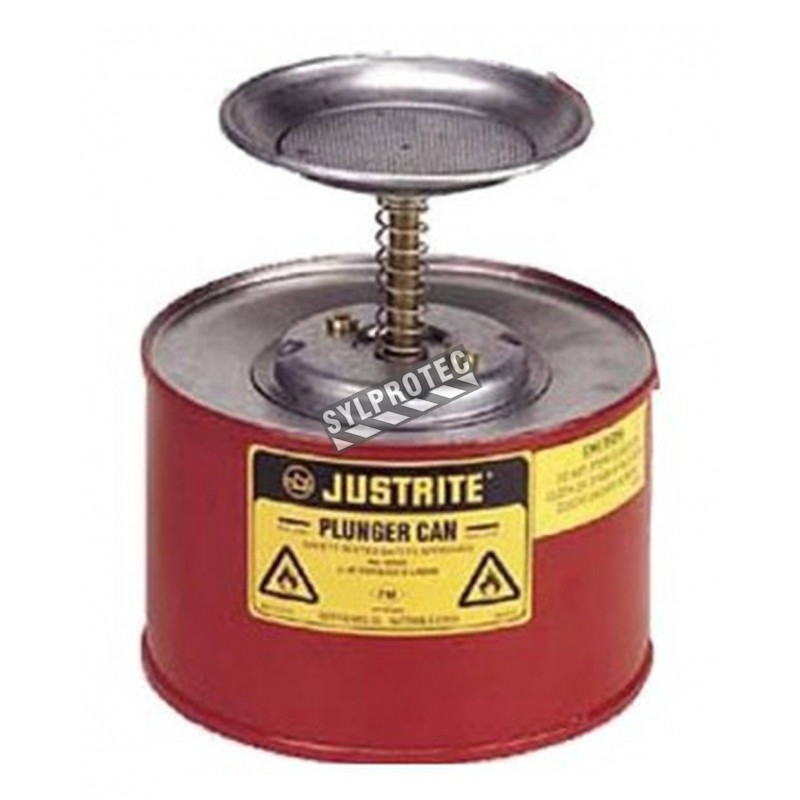 Steel solvent dispenser, 1 gallon, FM, UL, OSHA approved.