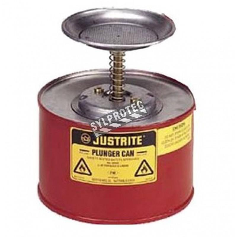 Steel solvent dispenser, 1 liter, FM, UL, OHSA approved