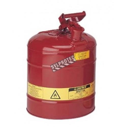 Bidon d'acier pour liquides inflammables, type 1, 1 gallon, approuvé FM, UL, OHSA.