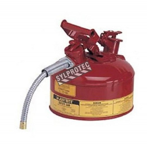 Steel flammable liquids container, type 2, 1 gallon, approved FM, UL, OHSA.