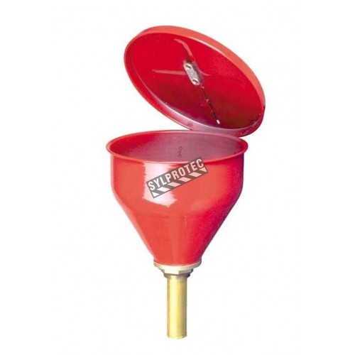 Safety drum funnels 6 in., whit flame arrestor.