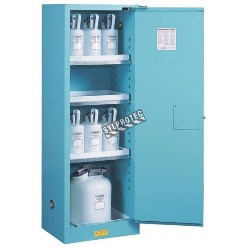 Slim Vertical Storage Cabinet For Acid And Corrosive Liquids. Capacity 22  Gallons US (83