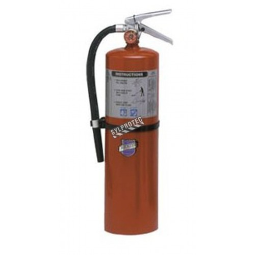 Portable fire extinguisher with Purple K 10 lbs, type BC, ULC 80BC, with wall hook