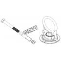 Ancrage permanent à émerillon 5K Swivel avec quincaillerie de fixation pour protection antichute sur surface de béton.