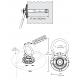 Ancrage permanent à émerillon 5K Swivel pour surface de béton avec quincaillerie de fixation, résistance de 5000 lb (22 KN)
