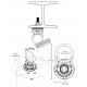 Ancrage permanent à émerillon 5K Swivel pour surface d'acier avec quincaillerie de fixation, 5000 lb (22 KN)