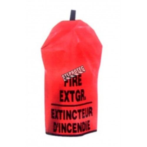 Cover for 10 lbs extinguisher, bilingual, without window