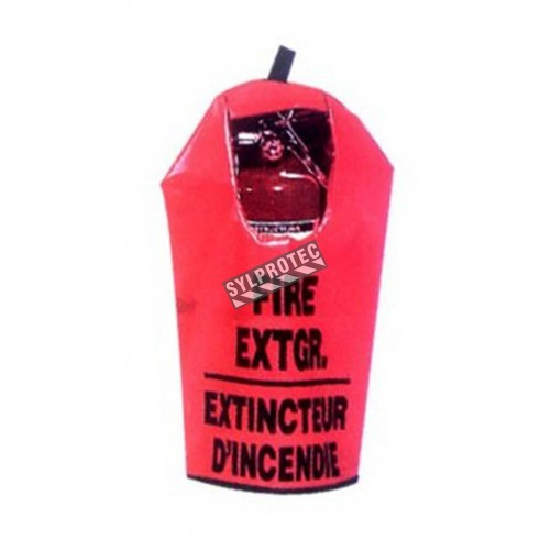 Cover for 10 lbs extinguisher, bilingual, with window