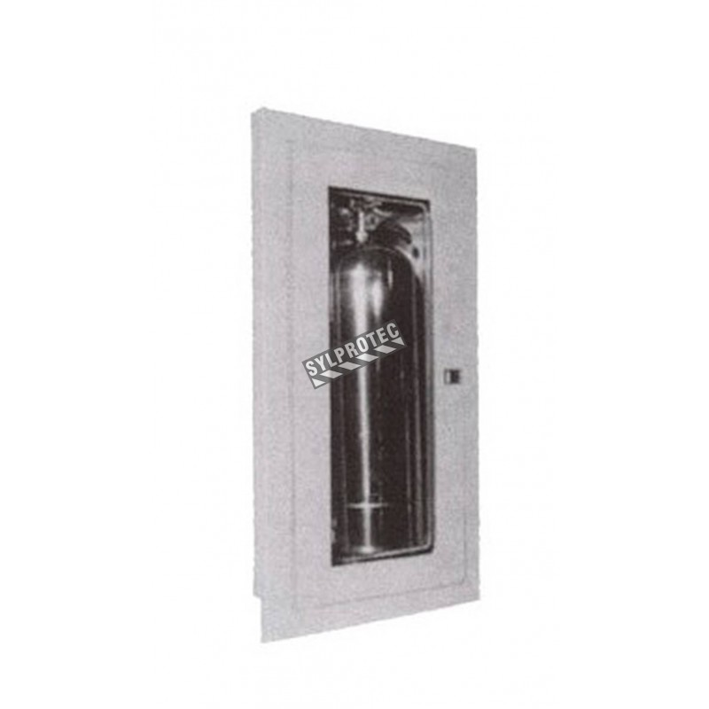 Semi-recessed cabinet for 2.5 gal, 10 lbs, 20 lbs extinguishers