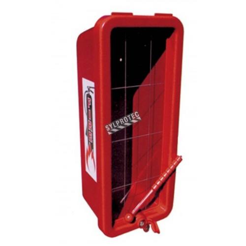 Cabinet de surface en plastique pour l'extérieur, pour extincteurs 20 lbs.