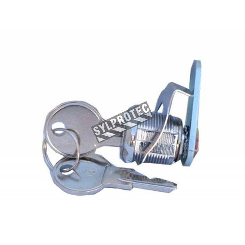Universal cam lock for surface cabinet, with key