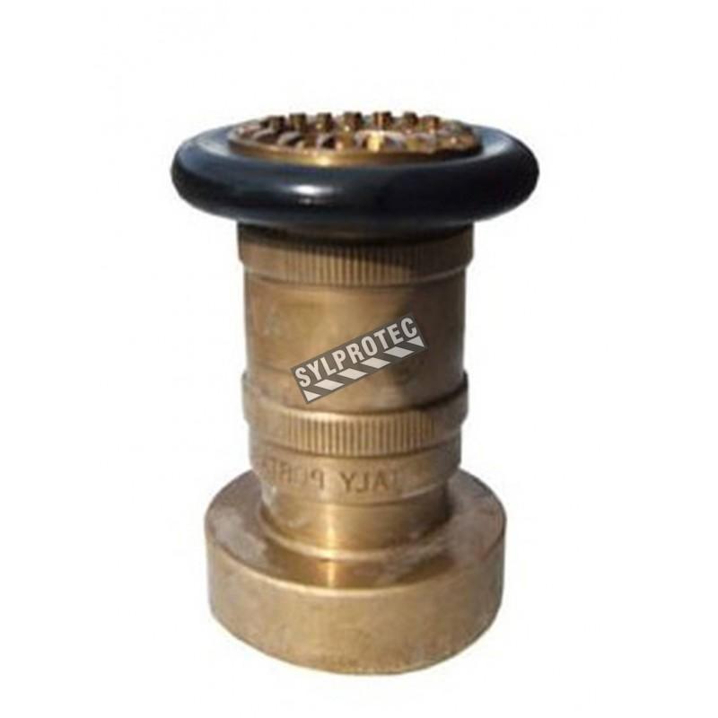 Lance ajustable de 1.5 po diamètre en laiton pour boyau d'incendie