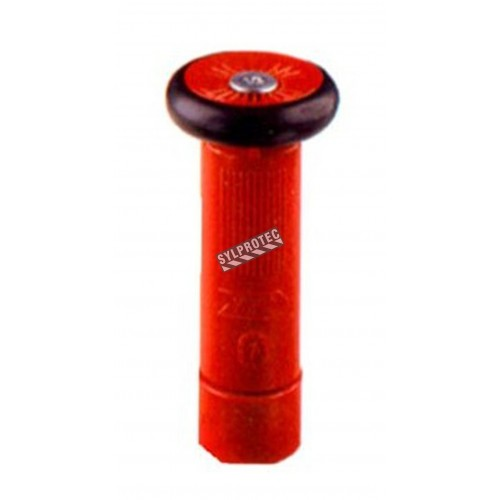 Fire hose adjustable nozzle of 1 in diameter