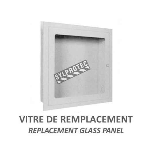 Replacement acrylic panel for recessed fire hose cabinet, 26 inches x 26 inches