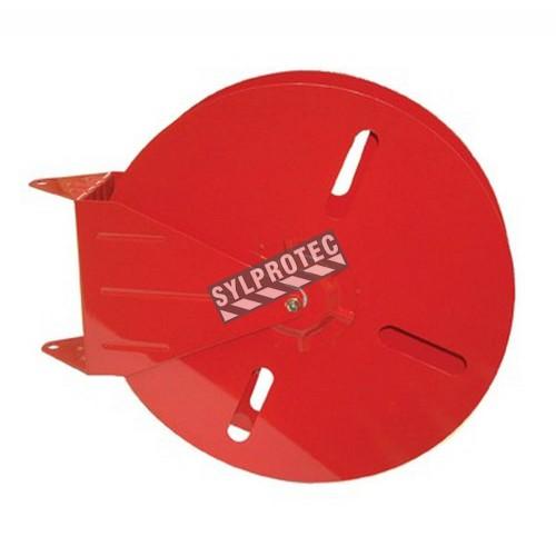 24-inch circular hose reel, for 150 ft rack fire hoses or 100 ft single-jacket hoses.
