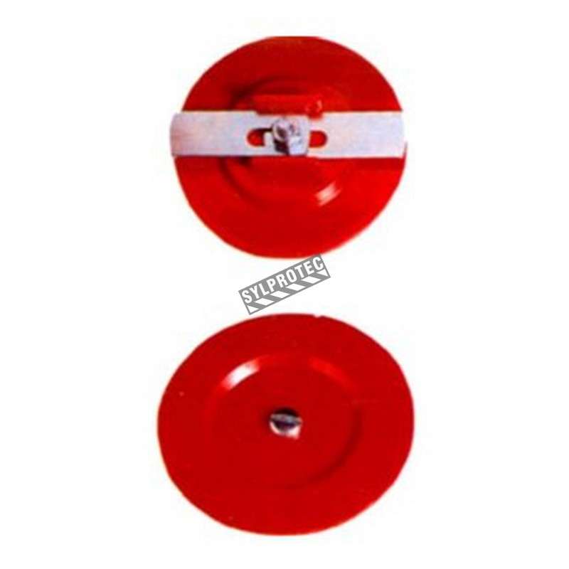 Adjustable break cap for fire department (siamese) connection, 2.5 inch, for any hose thread.