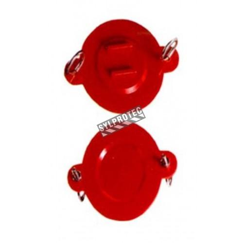 Obturateur jetable pour raccord siamois, 2.5 po, avec boulons à oeillets.