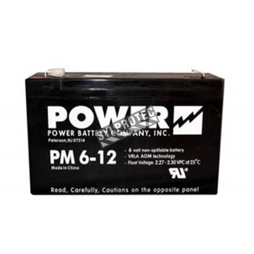 Battery 6 V 12 Ah 72 W for emergency lighting unit