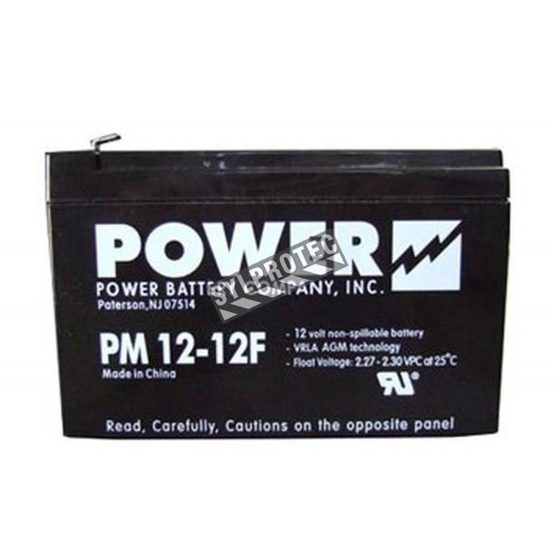 Batterie 12 V 12 Ah 144 W pour unité d'éclairage d'urgence