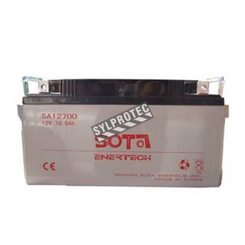 Batterie 12 V 75 Ah 840 W pour unité d'éclairage d'urgence