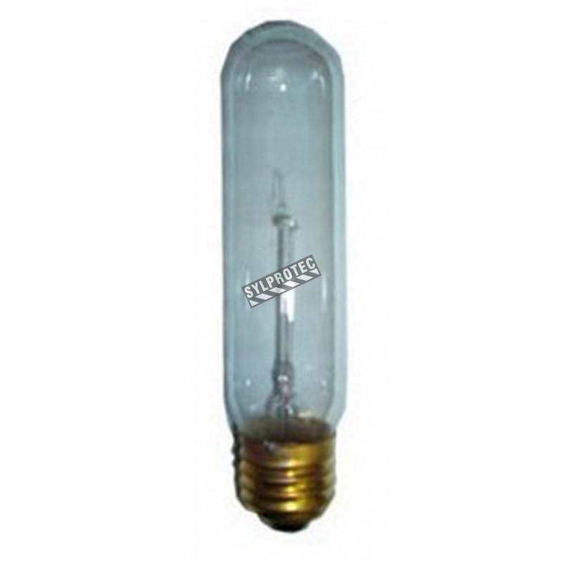 Light bulb 130 V T10 with large socket for emergency lighting