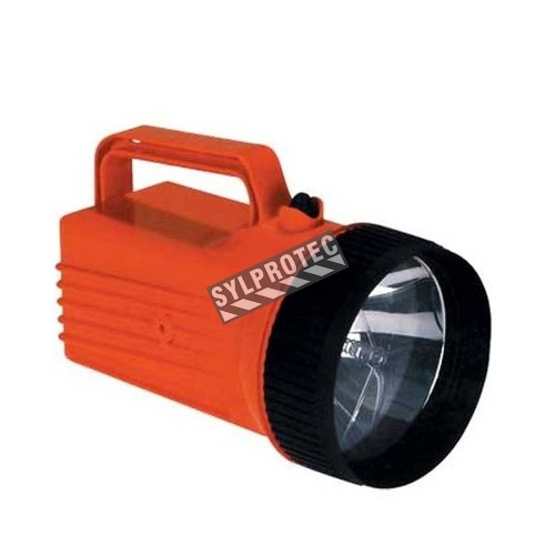 Worksafe 6 V waterproof safety flashlight (lantern), approved by MSHA, UL and CSA.