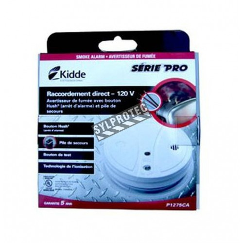 Ionization smoke detector, 120 V AC and 9 V.