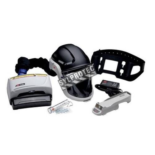 Ensemble Versaflo TR-600 pour épuration d'air motorisé en milieu industriel. Casque dur et facteur de protection de 1000