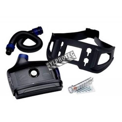 Ensemble Versaflo avec batterie standard (autonomie 7 à 12.5h) & ceinture robuste pour le milieu industriel. Sans pièce faciale