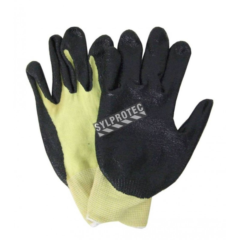 Cut-resistant ASTM/ANSI level A3 Kevlar® blended-knit glove with foam nitrile coating. Sold in pairs.