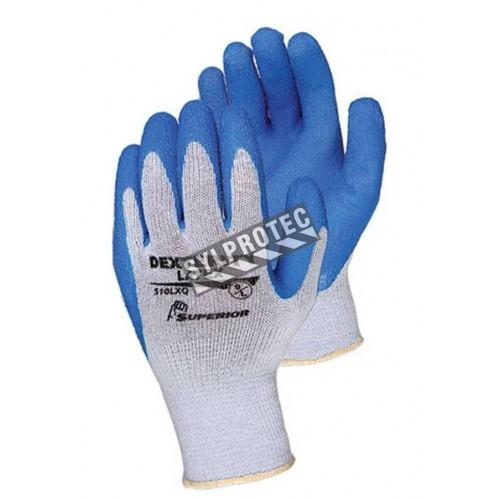 Gant Dexterity® en tricot de coton & polyester enduit de latex nervuré. Indice de résistance à la perforation ASTM/ANSI 2.