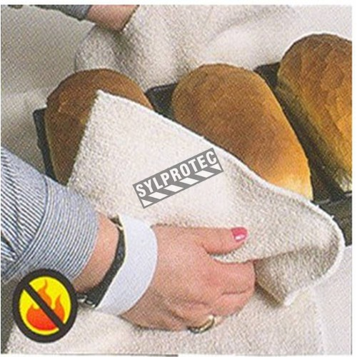 12 in long Cool Grip® heavy-duty terry knit bakers pad with elastic band for hands. ASTM/ANSI heat level 4. Sold per half dozen.